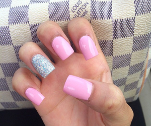 long nails, cute nails, and pink nails image