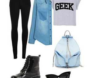 black, Polyvore, and fash image