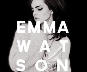 emma watson, beautiful, and black and white image