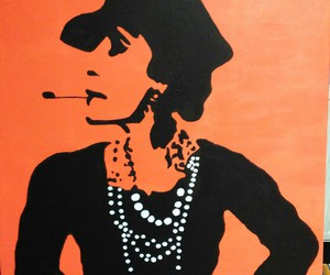 beautiful, coco chanel, and painting image