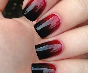 black, nail art, and red image