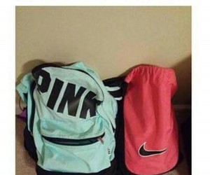 funny, pink, and bag image