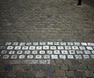 keyboard, street, and art image