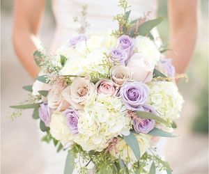 beautiful, flowers, and wedding image