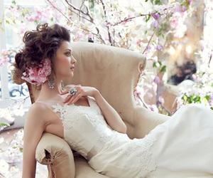 beautiful, wedding dress, and white image