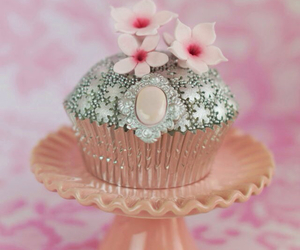 cupcakes, pink, and vintage image