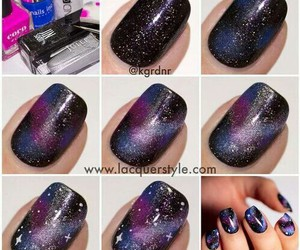 amazing, galaxy, and nail art image