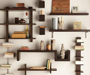 book shelves, ladder bookcase, and wall bookshelves image