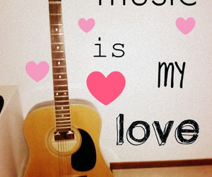 guitare, love, and music image