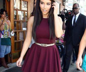 dress and kim kardashian image