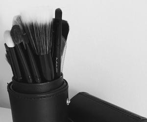 black, brush, and mac image