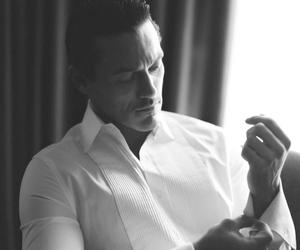 black & white and luke evans image