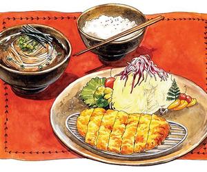 japanese food and food illustrations image