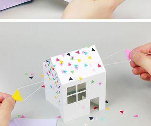 house, cute, and invitation image