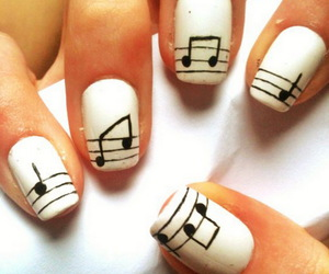 nails, music, and nail art image