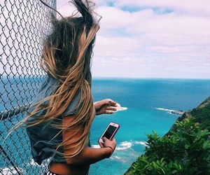 beutiful, blonde, and clouds image