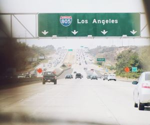 los angeles, nature, and road image