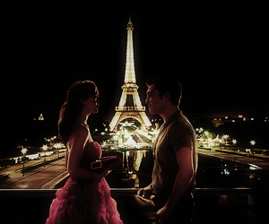 blair waldorf, chuck bass, and paris image