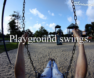 swing, photography, and playground image