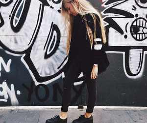 girl, black, and outfit image