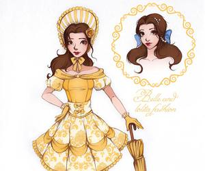 beauty and the beast, belle, and bela image