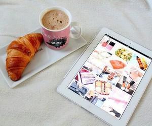 ipad, coffee, and food image