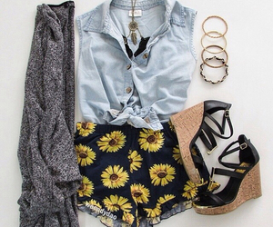 outfit, cardigan, and clothes image