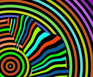 cat, psychedelic, and op art image