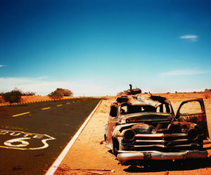 car, desert, and quotes image