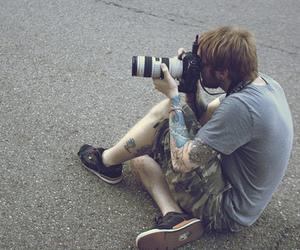 tattoo, boy, and camera image
