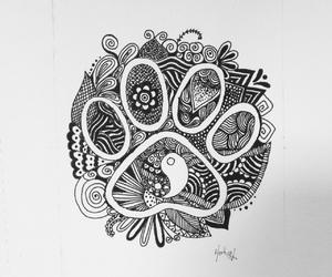 art, doodle, and yin yang image