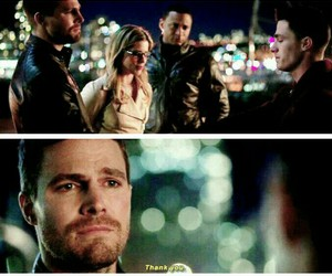 arrow, oliver queen, and roy harper image