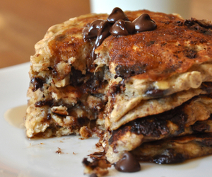 chocolate, pancakes, and food image