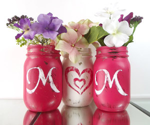 home decor, mason jars, and mother's day image