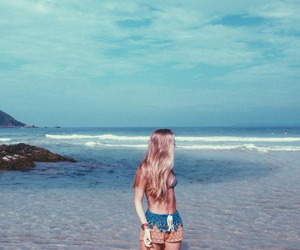 beach, blue, and exotic image
