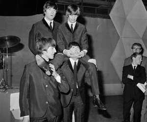 adorable, the beatles, and black and white image