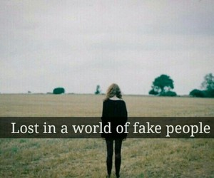 beautiful, fake, and lost image