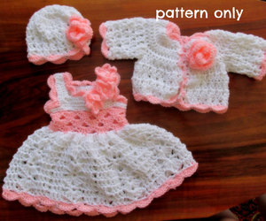 baby, crochet, and dress image