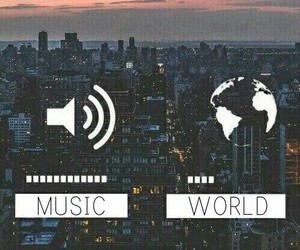music, world, and city image