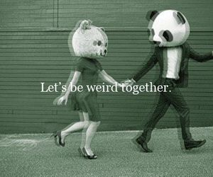 together and weird image