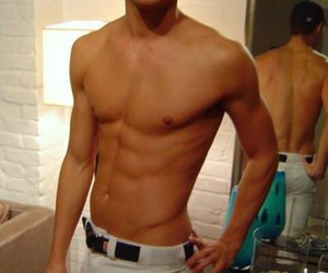 abs, Hot, and men image