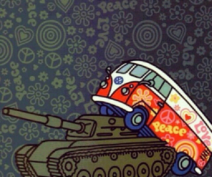 hippie, peace, and stop war image