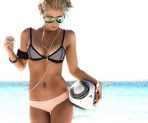 beach, fit, and healthy image