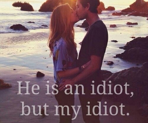 idiot, kiss, and mine image