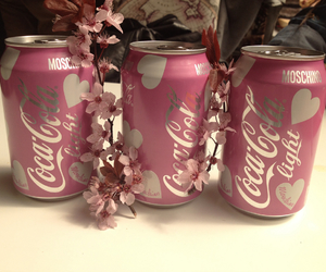 cocacola, flower, and light image