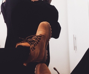black, guy, and shoes image