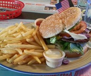 burger, fastfood, and food image