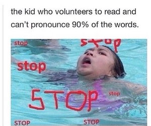 funny, school, and stop image