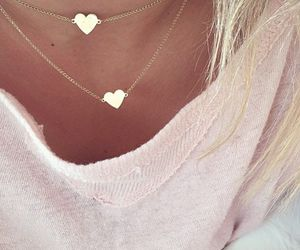 heart, necklace, and accessories image
