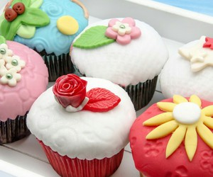 colorful, cupcakes, and delicious image